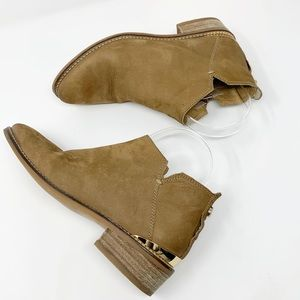 Steve Madden Kessey Tan Leather Ankle Booties